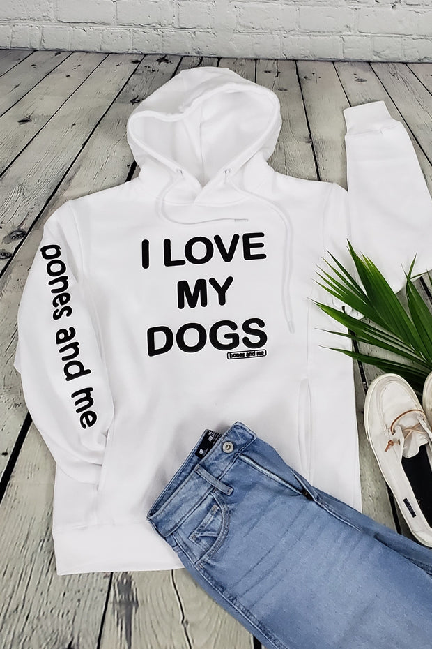 VUCJAK edition - I LOVE MY DOG(S) AWESOME HOODIE (white)