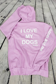 I Love My Dog(s) - Coziest Fleece Zip-Up Hoodie