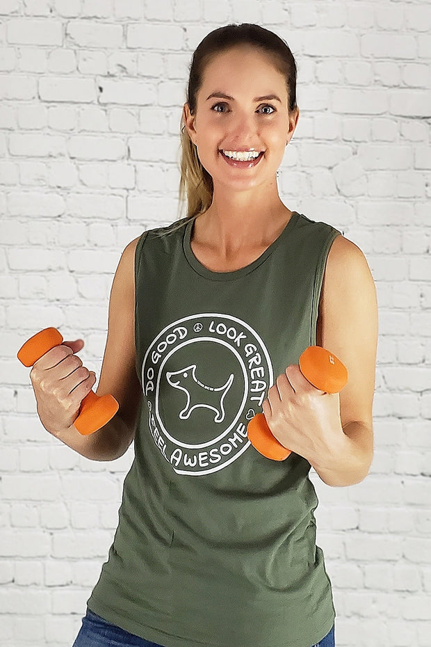 Do Good Army Muscle Tank