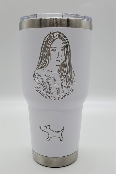 Photo Cup (Your Photo Engraved) Multiple sizes / colors