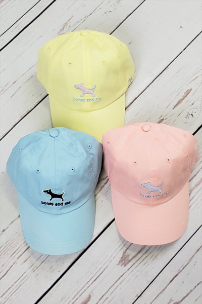 Pink, Yellow and Light Blue Baseball Caps - 3-pack