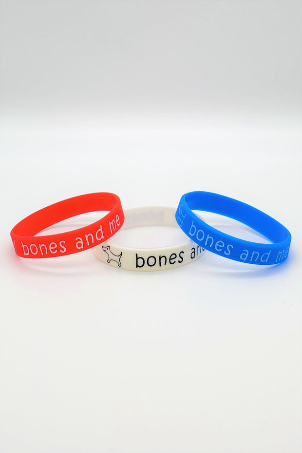 Adult Silicone Bracelet - Red. White. Blue.