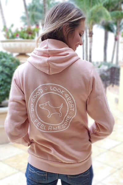 Coziest Do Good Fleece Hoodie - peachy