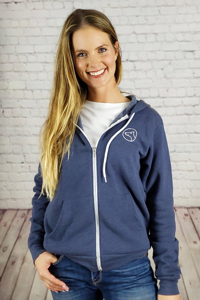 Coziest Do Good Fleece Zip-Up Hoodie - blue