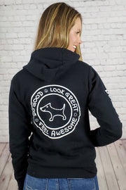 Coziest Do Good Fleece Zip-Up Hoodie - black