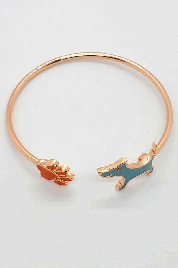 Signature Rose Gold Bracelet and Pendant Set (blue pendant)