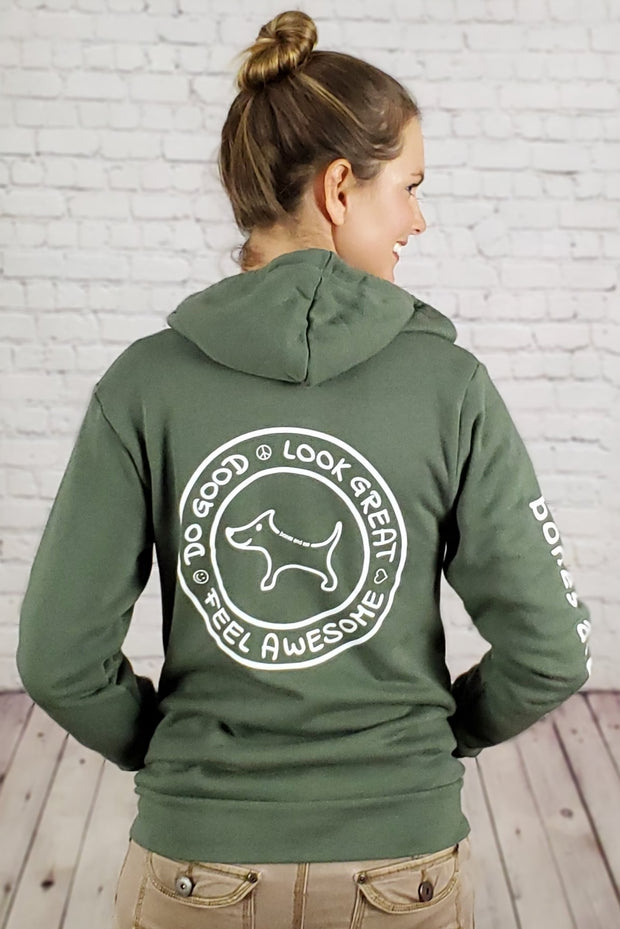 Coziest Do Good Fleece Zip-Up Hoodie - green