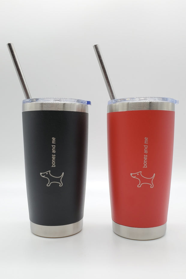 Red & Black Doxie Twin Pack Drink Tumblers