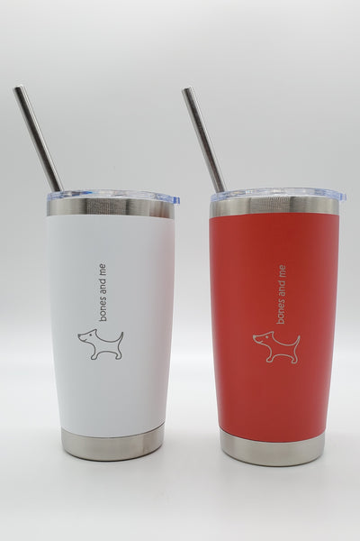 Red & White Doxie Twin Pack Drink Tumblers