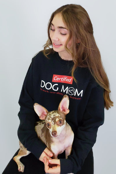 CERTIFIED Dog Mom (black)