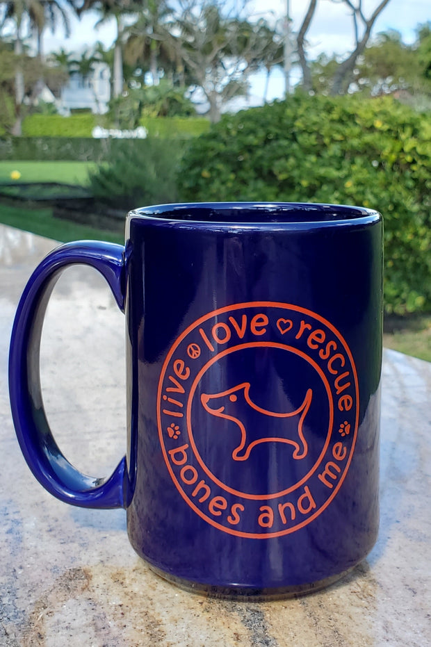 Live Love Rescue 15 oz Mug (blue)