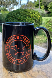 Live Love Rescue 15 oz Mug (black)