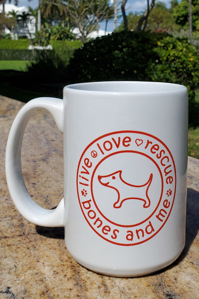 Live Love Rescue 15 oz Mug (white)