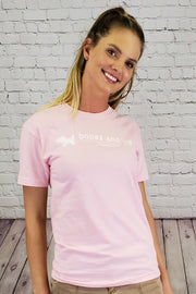 Signature Rescued Vintage Cotton Tee - Light Pink