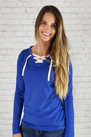 VUCJAK edition - Do Good Lace-Up Long Sleeve Tee (blue)