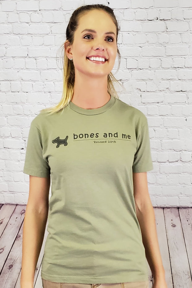 Signature Rescued Vintage Cotton Tee - Light Olive