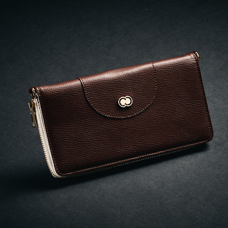 Casual Clutch Wallet - Dark Brown