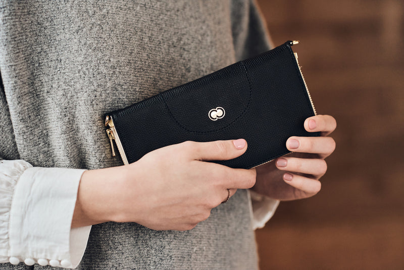Casual Clutch Wallet - Black