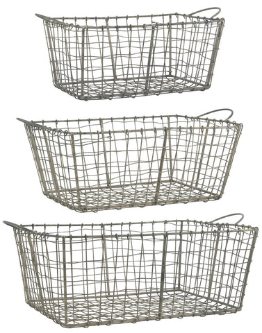Wire Basket Set