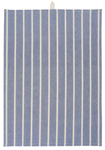 Ib Laursen Dish Towel Blue/Creme Stripe