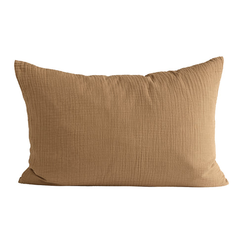 Gauze Cushion Cover Walnut