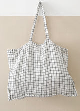 Load image into Gallery viewer, Linge Particulier Bag Large white/black Checks