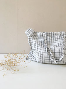 Linge Particulier Bag Large white/black Checks