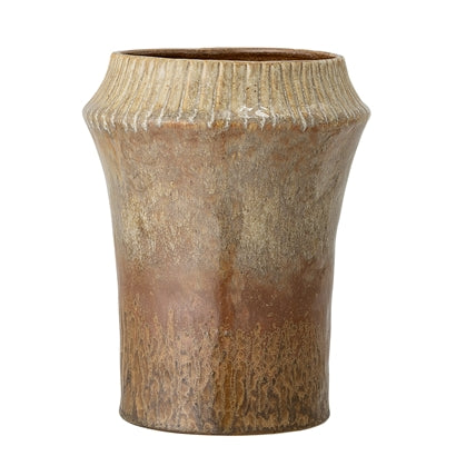 Stoneware Vase Brown