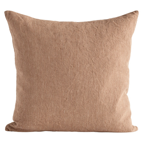 Tine K Home Cushion Cover Walnut Pinstripe 50 x 50 cm linen