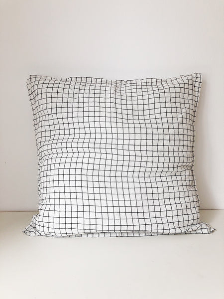 Linge Particulier Cushion Cover 50 x 50 cm white/black Checks