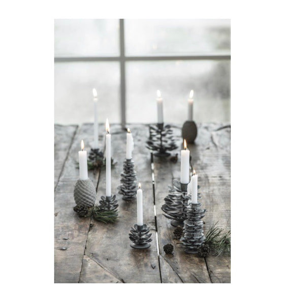 Ib Laursen Candles white 7 Pcs thin