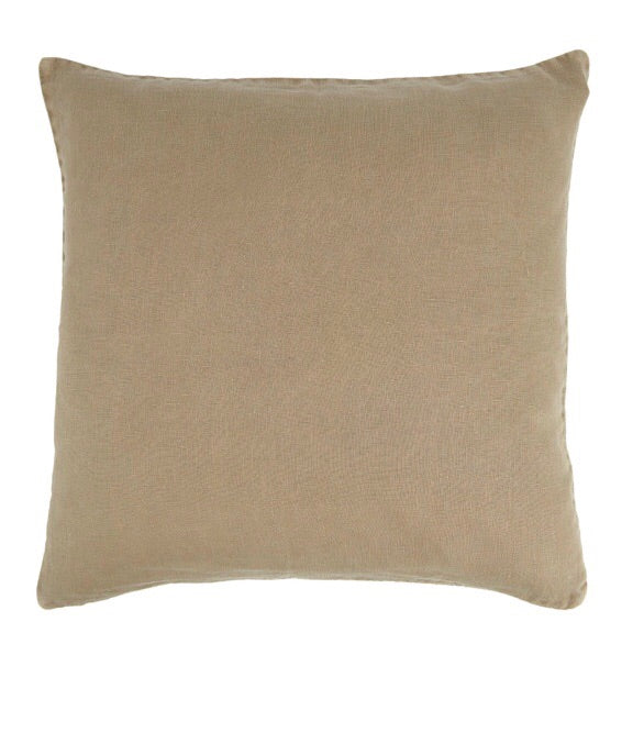 NEW Ib Laursen Cushion Cover cognac 50 x 50 cm linen