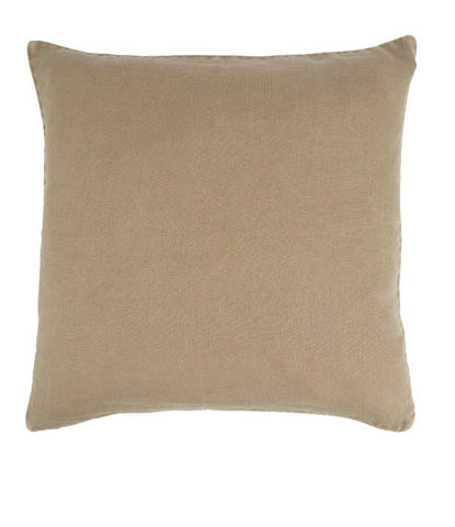 Ib Laursen Cushion Cover cognac 50 x 50 cm linen