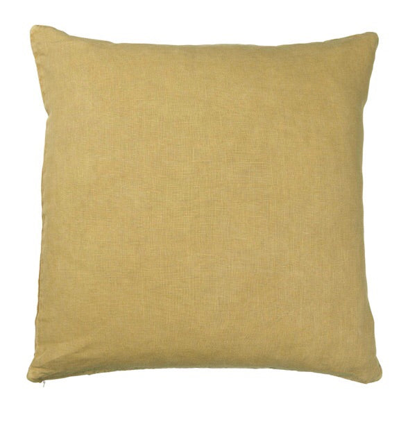 Ib Laursen Kissen mustard gelb 50x50 cm leinen Bezug Cushion Cover Pillowcase Yellow