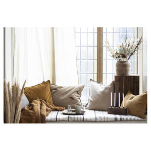 Ib Laursen Kissenbezug 60x40 cm leinen Pillowcase 100% linen tapenade Cushion Cover brown