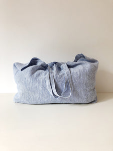 Linge Particulier Bag Medium Blue Thin Stripe