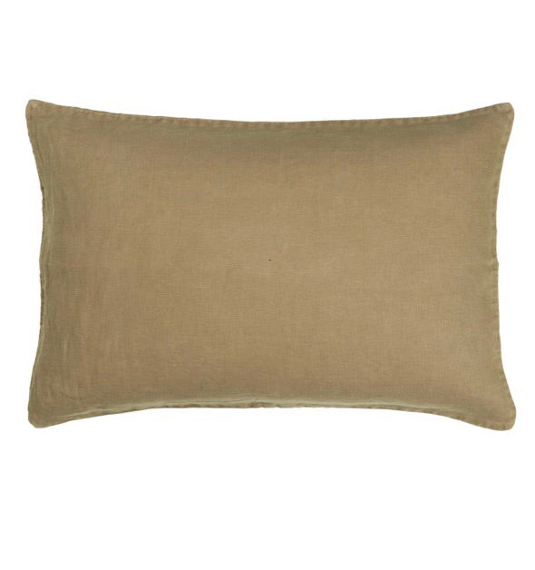 Ib Laursen Cushion Cover autumn green 60 x 40 cm linen