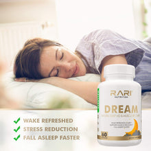 Load image into Gallery viewer, RARI Nutrition - Dream 100% Natural Sleeping Pills and Muscle Recovery I Herbal Sleep Supplement with Melatonin, and Valerian | Sleeping Aid for Adults I 60 Sleeping Pills Capsules Non-Habit Forming