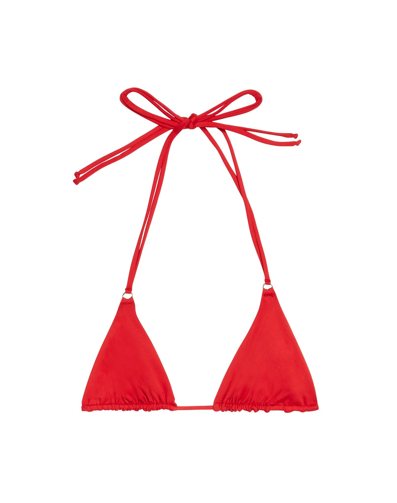 BIKINI V TOP - CHERRY RED