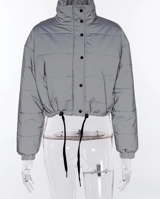 Color Reflective Short Jacket