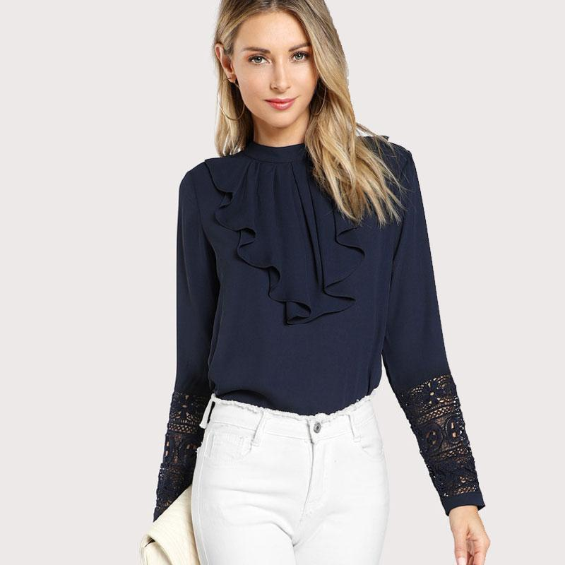 Elegant Long Sleeve Blouse