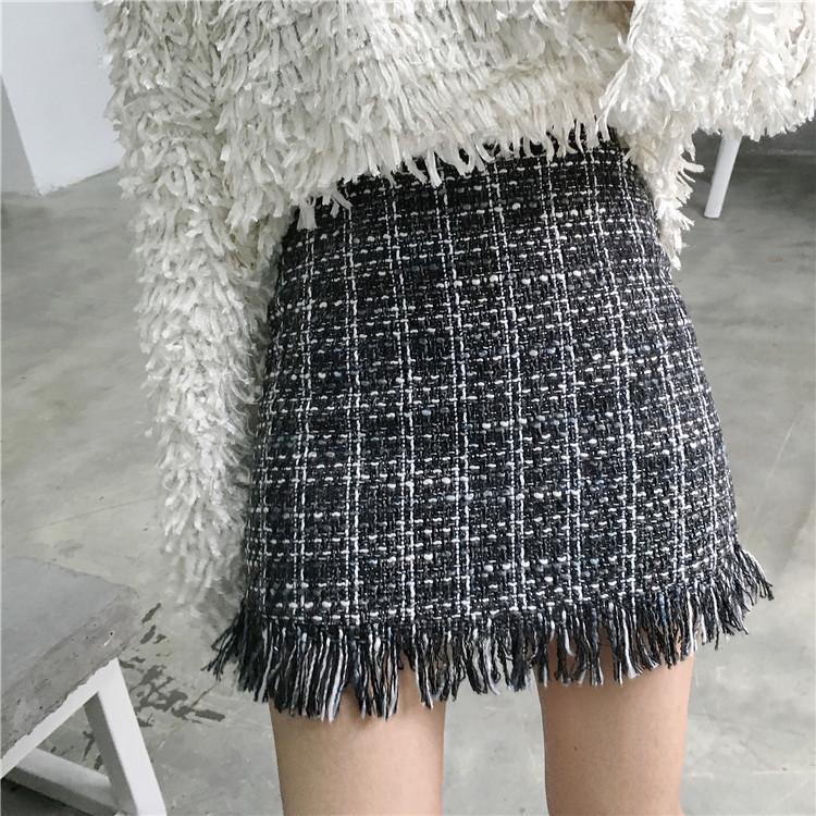 Woolen Mini Skirt