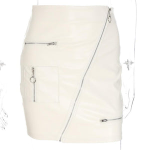 White High Waist Skirt