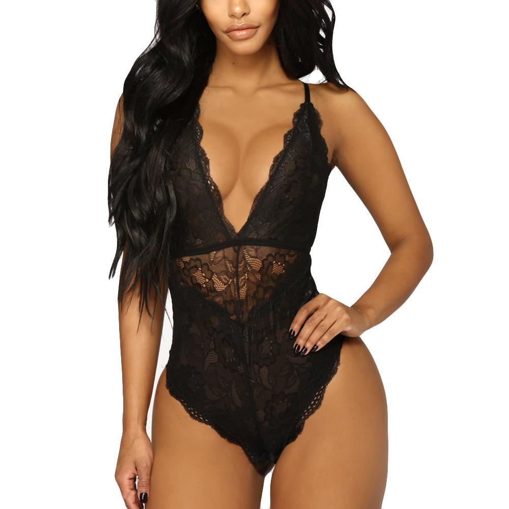 Nightwear Lace Racy Bodysuit
