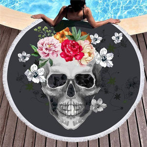 Skull Beach Mat-Towel