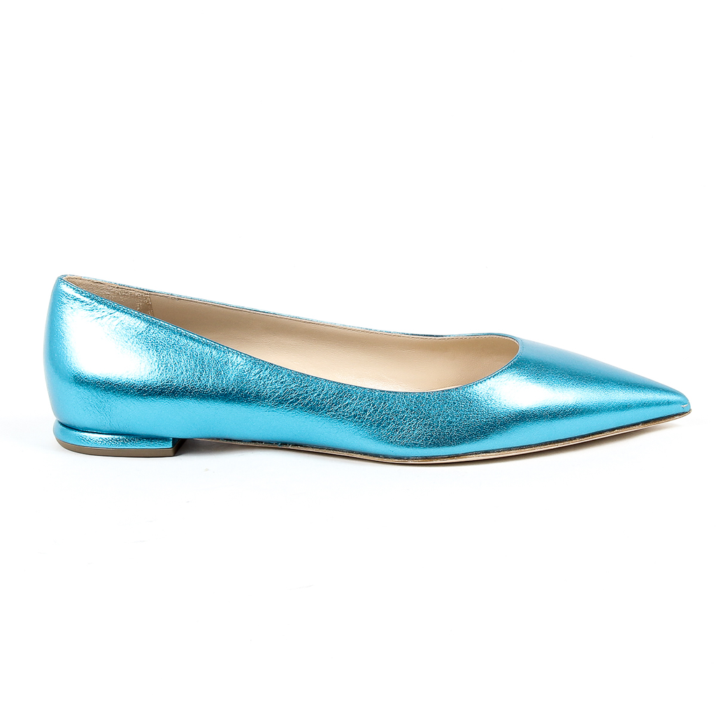 Andrew Charles Womens Ballerina Light Blue SONIA