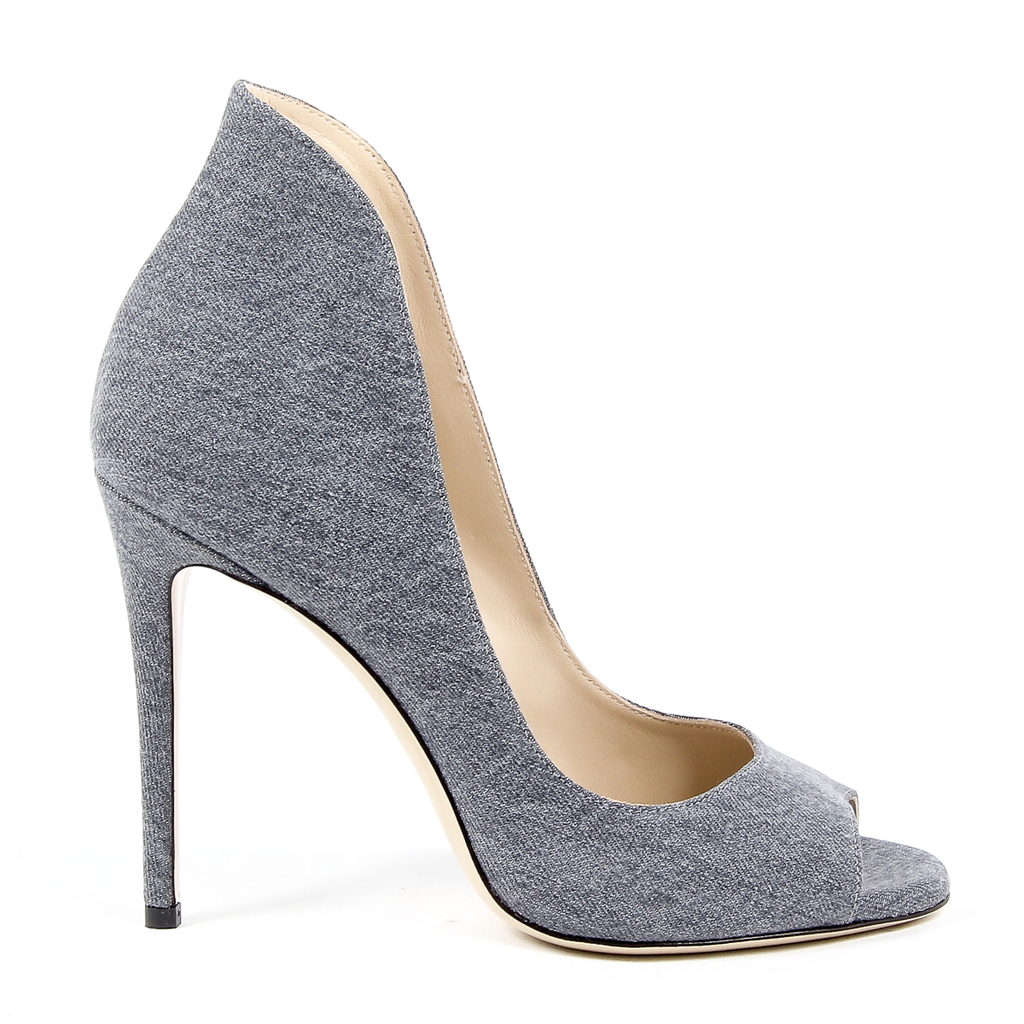 Andrew Charles Womens Pump Open Toe Denim DAFNE