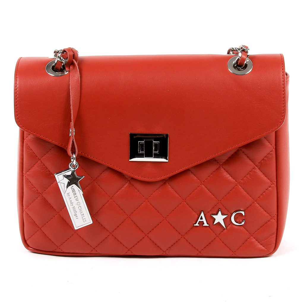 Andrew Charles Womens Handbag Red AZALEA