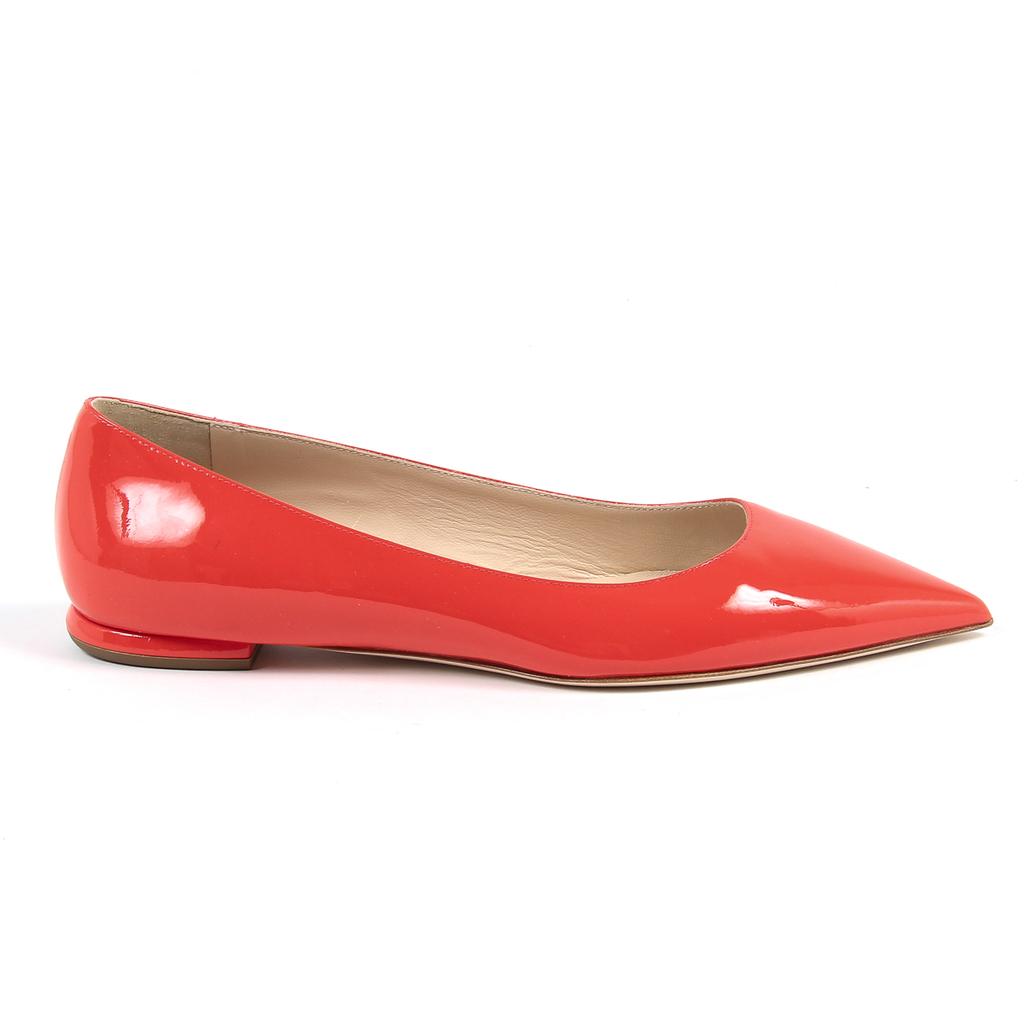 Andrew Charles By Andy Hilfiger Womens Ballerina Red BALTIMORE