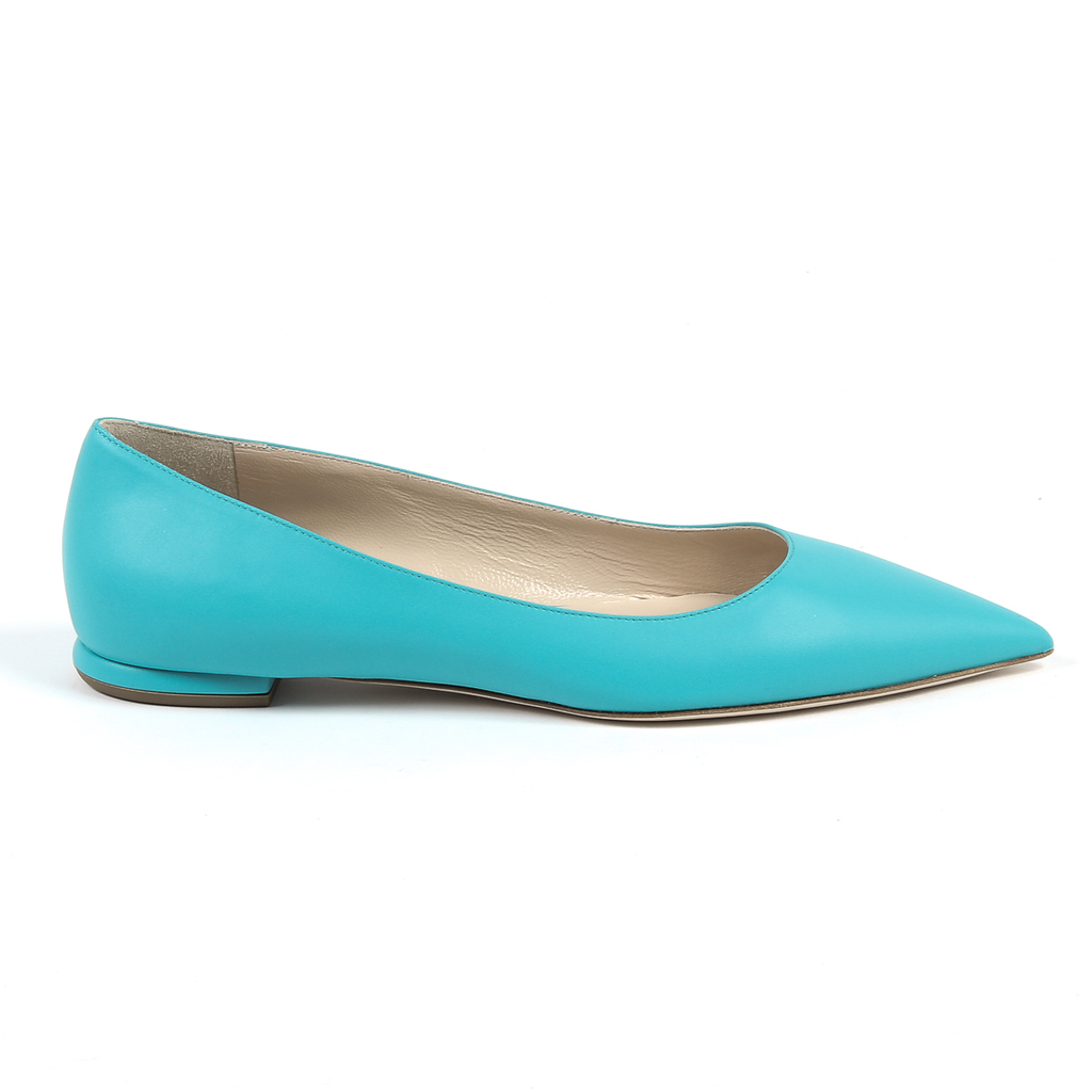 Andrew Charles By Andy Hilfiger Womens Ballerina Light Blue BALTIMORE
